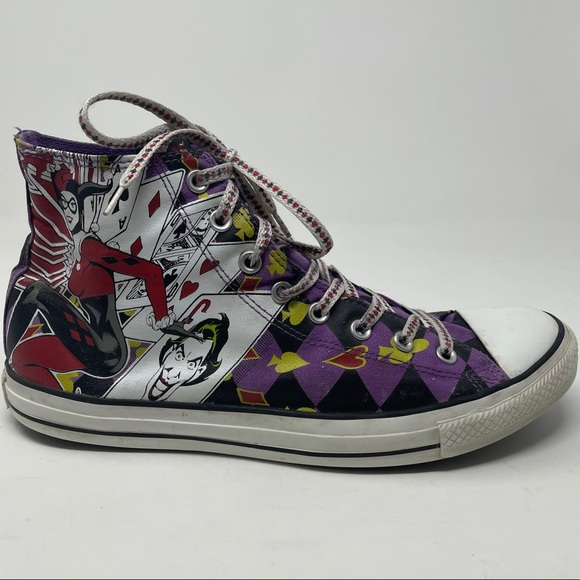 CONVERSE Harley Quinn High Top Sneakers 12